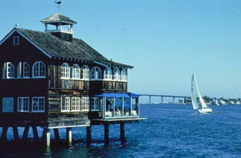 Restaurant by the Bay at Seaport Village in San Diego